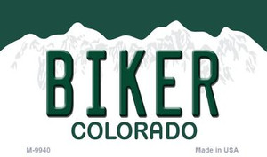Biker Colorado State Background Magnet Novelty Wholesale
