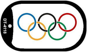 """Olympic Flag Country Flag Dog Tag Kit 2"""" Wholesale Metal Novelty Necklace"""