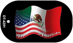 """Mexican American Flag Country Flag Dog Tag Kit 2"""" Wholesale Metal Novelty Necklace"""