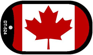 """Canada Flag Country Flag Dog Tag Kit 2"""" Wholesale Metal Novelty Necklace"""
