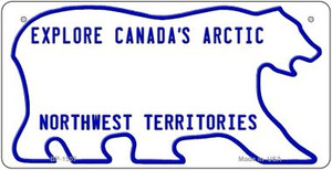 Canada NW Territories State Background Novelty Wholesale Bicycle License Plate
