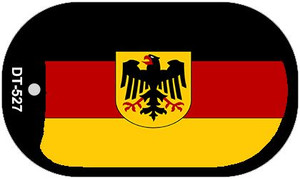 """Germany Flag Country Flag Dog Tag Kit 2"""" Wholesale Metal Novelty Necklace"""