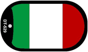 """Italy Flag Country Flag Dog Tag Kit 2"""" Wholesale Metal Novelty Necklace"""