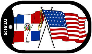 """American Dominican Republic Flag Country Flag Dog Tag Kit 2"""" Wholesale Metal Novelty Necklace"""