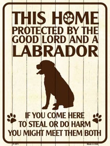 Labrador Protected Metal Novelty Parking Sign Wholesale