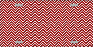 Red White Chevron Wholesale Metal Novelty License Plate LP-2688