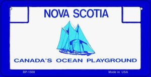 Nova Scotia State Background Novelty Wholesale Bicycle License Plate