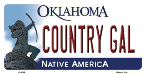 Country Gal Oklahoma Novelty Wholesale Metal License Plate