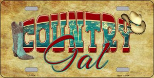 Country Gal Novelty Wholesale Metal License Plate LP-8334