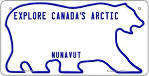 Canada Nunavut State Background Novelty Wholesale Bicycle License Plate