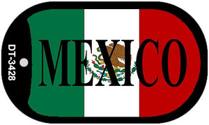 "Mexico Dog Tag Kit 2"" Wholesale Metal Novelty Necklace"