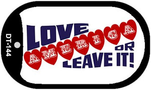 """Love America or Leave it Dog Tag Kit 2"""" Wholesale Metal Novelty Necklace"""