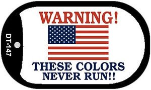 """Warning These Colors Never Run Dog Tag Kit 2"""" Wholesale Metal Novelty Necklace"""
