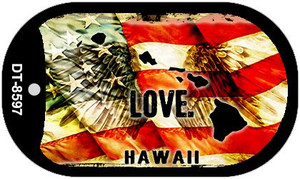 Hawaii Love Wholesale Metal Novelty Dog Tag Necklace DT-8597