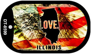 Illinois Love Wholesale Metal Novelty Dog Tag Necklace DT-8599