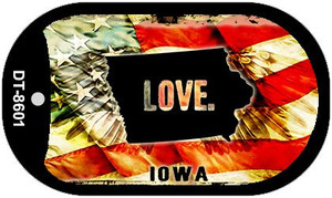 Iowa Love Wholesale Metal Novelty Dog Tag Necklace DT-8601