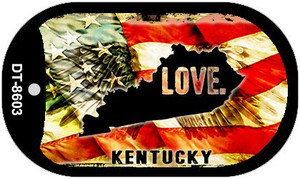 Kentucky Love Wholesale Metal Novelty Dog Tag Necklace DT-8603