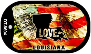 Louisiana Love Wholesale Metal Novelty Dog Tag Necklace DT-8604