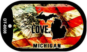 Michigan Love Wholesale Metal Novelty Dog Tag Necklace DT-8608