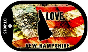 New Hampshire Love Wholesale Metal Novelty Dog Tag Necklace DT-8615