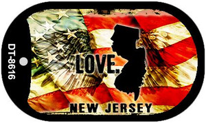 New Jersey Love Wholesale Metal Novelty Dog Tag Necklace DT-8616