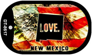 New Mexico Love Wholesale Metal Novelty Dog Tag Necklace DT-8617