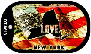 New York Love Wholesale Metal Novelty Dog Tag Necklace DT-8618