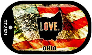 Ohio Love Wholesale Metal Novelty Dog Tag Necklace DT-8621