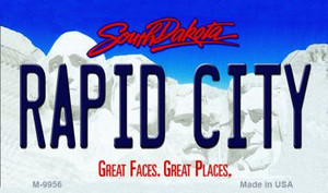 Rapid City South Dakota State Background Magnet Novelty Wholesale
