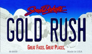 Gold Rush South Dakota State Wholesale Novelty Metal Magnet