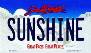 Sunshine South Dakota State Background Magnet Novelty Wholesale