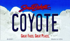 Coyote South Dakota State Wholesale Novelty Metal Magnet