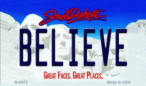 Believe South Dakota State Background Magnet Novelty Wholesale