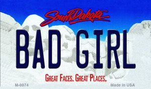 Bad Girl South Dakota State Background Magnet Novelty Wholesale