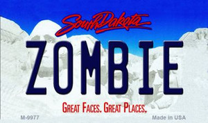 Zombie South Dakota State Wholesale Novelty Metal Magnet