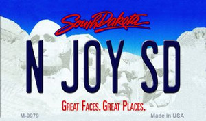 N Joy SD South Dakota State Background Magnet Novelty Wholesale