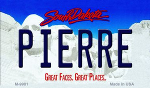Pierre South Dakota State Background Magnet Novelty Wholesale