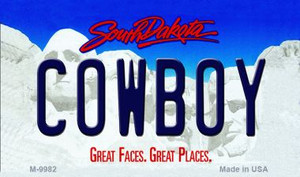 Cowboy South Dakota State Wholesale Novelty Metal Magnet
