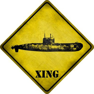 Submarine Xing Novelty Metal Crossing Sign Wholesale