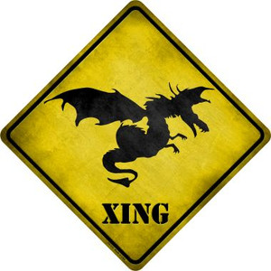 Dragon In Flight Xing Novelty Metal Crossing Sign Wholesale