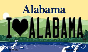 I Love Alabama Alabama State Background Magnet Novelty Wholesale