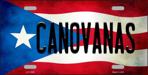 Canovanas Puerto Rico Flag Background License Plate Metal Novelty Wholesale
