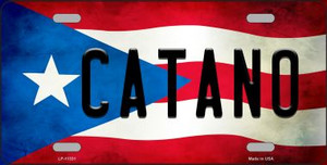Catano Puerto Rico Flag Background License Plate Metal Novelty Wholesale