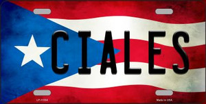 Ciales Puerto Rico Flag License Plate Metal Novelty Wholesale