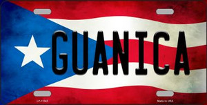 Guanica Puerto Rico Flag License Plate Metal Novelty Wholesale