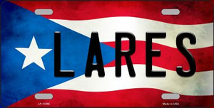 Lares Puerto Rico Flag License Plate Metal Novelty Wholesale