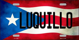 Luquillo Puerto Rico Flag Background License Plate Metal Novelty Wholesale