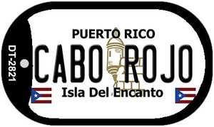 Cabo Rojo Puerto Rico Flag Dog Tag Kit Wholesale Metal Novelty Necklace