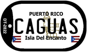 Caguas Puerto Rico Flag Dog Tag Kit Wholesale Metal Novelty Necklace