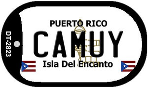 Camuy Puerto Rico Flag Dog Tag Kit Wholesale Metal Novelty Necklace